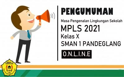 Pemberitahuan Pelaksanaan MPLS dan Awal Tahun Pelajaran 2021/2022